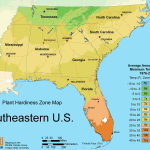 South East Us Plant Hardiness Zone Map Mapsof Net