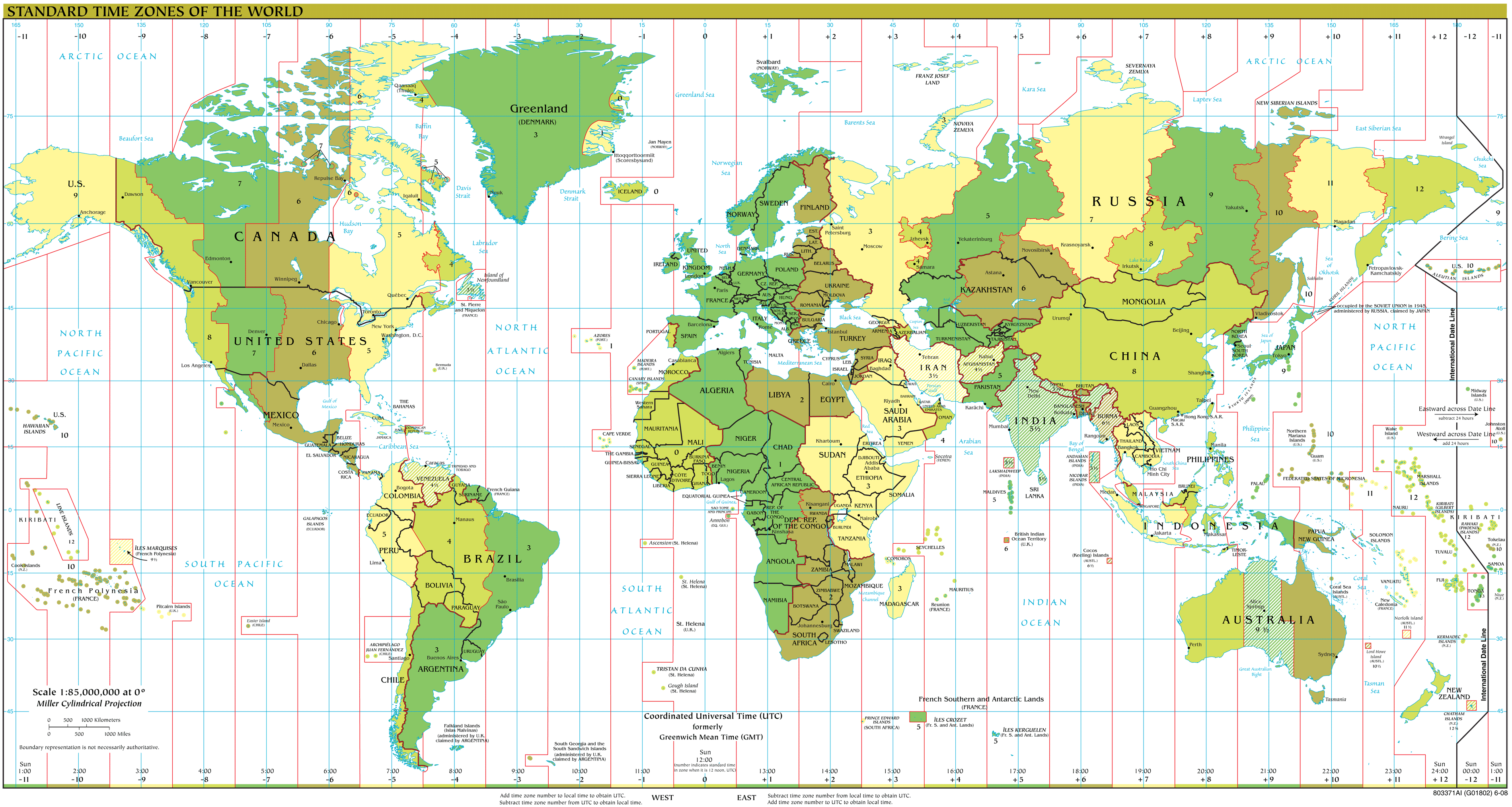 Time Zones Map Mapsof