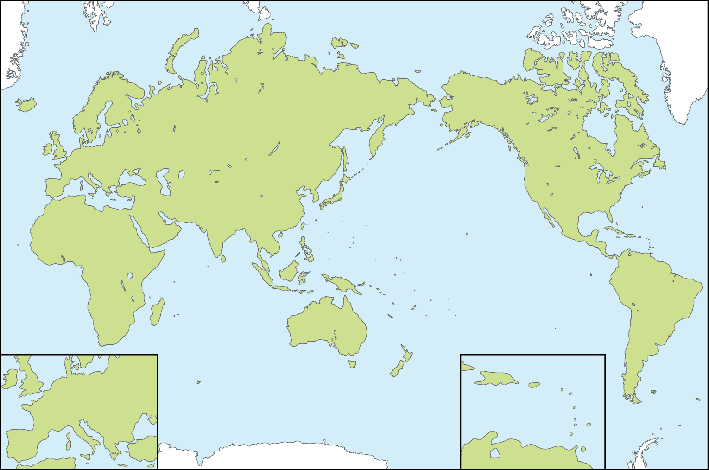 World Map Printable Outline