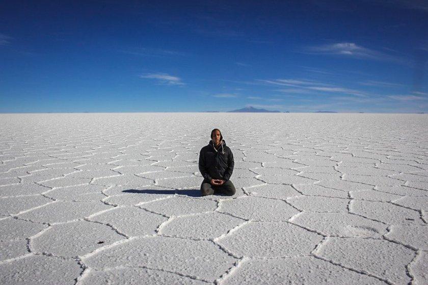 meditation salar de uyuni salt flats bolivia