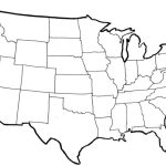 Free Blank Maps Of The United States U S