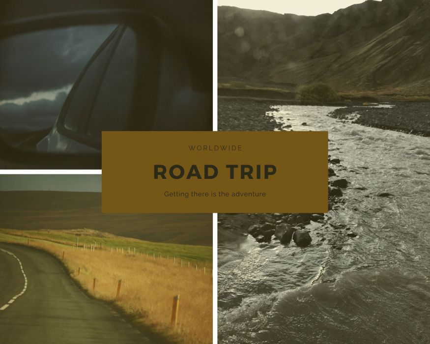 Road trip collage from he About page