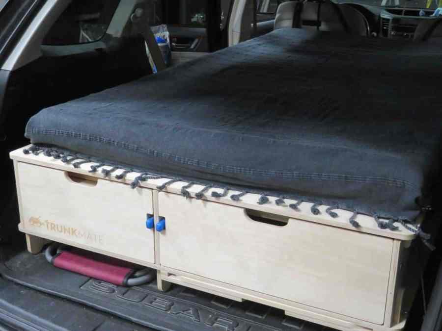 TrunkMate SUV platform bed setup in car