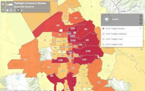 Customer location density