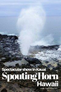 Spouting Horn Beach Park in Kauai, Hawaii