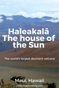 The world's largest dormant volcano Haleakalā, Maui, Hawaii