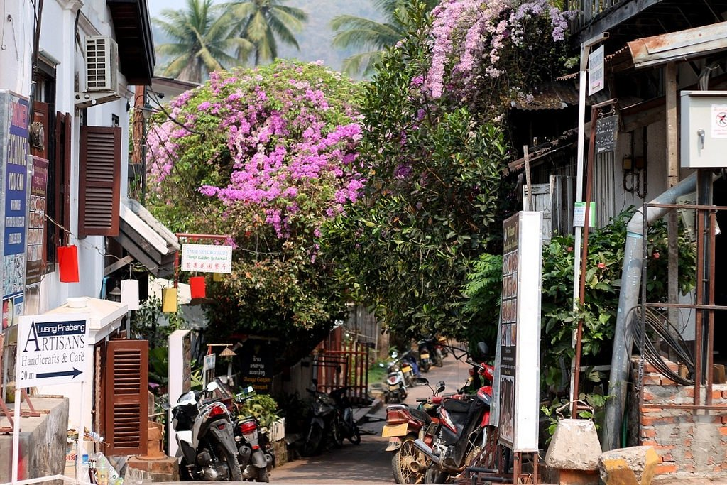 Streets and passage ways of Luang Prabang