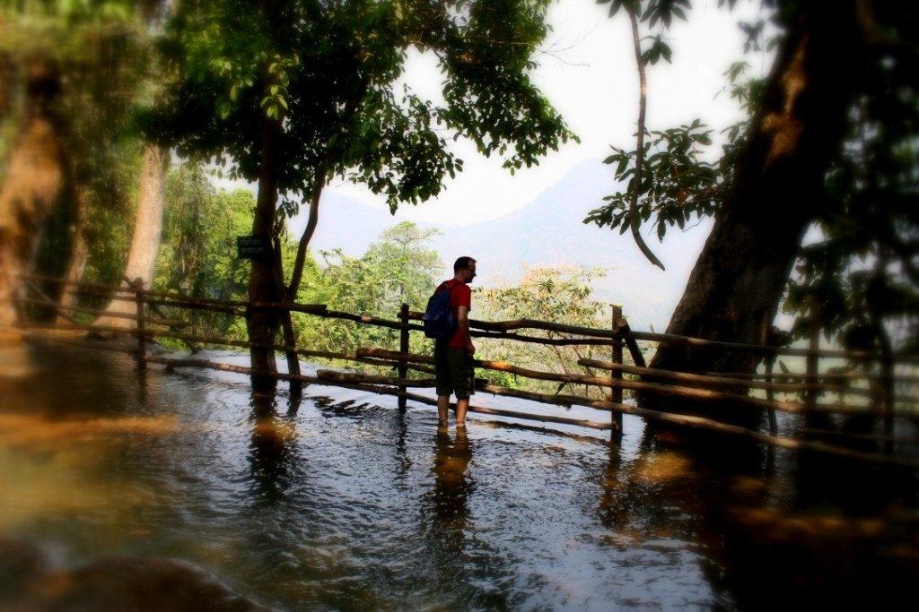 Hiking to the top of the waterfall, Luang Prabang, Laos