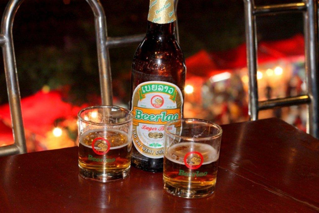 Sunset Beer, Highland Bar, Vientiane