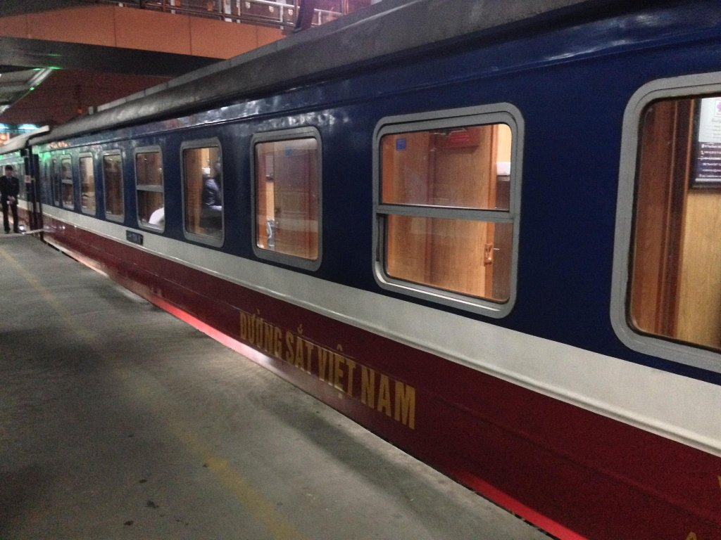 Our sleeper train from Hanoi to Sapa in Vietnam