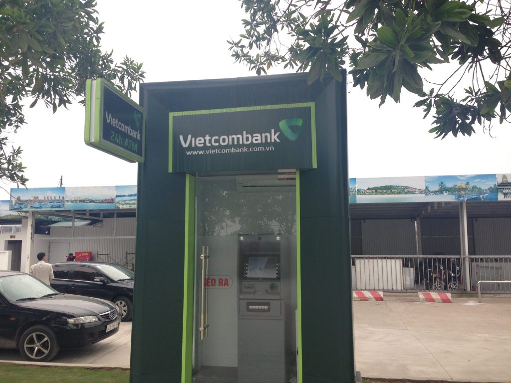 ATM next to the Cat Ba Island ferry terminal