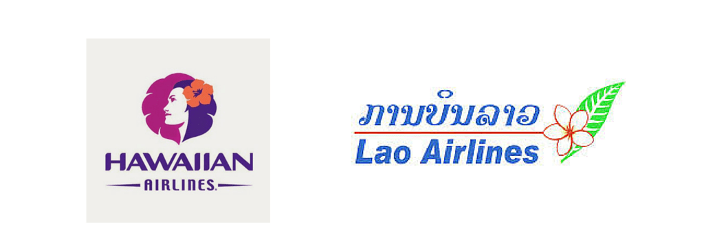 Lao Airlines and Hawaiian Airlines logos