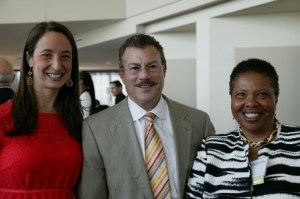 Rebekah Gewirtz, MPHA Board President Steve Bradley and President-elect Deborah Dickerson.