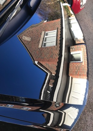 Bonnet Reflection After Polishing