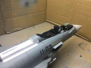 Maquetas hechas - Eurofighter Typhoon 1:48 Detalles de la parte cabina del Eurofighter 1/48