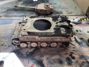 Maquetas hechas - Panzer Vi Tiger 1/48 Detalle de pigmento de arena