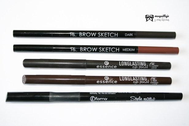 Lápices de ojos y cejas