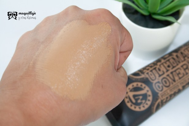 swatch base maquillaje Ultimate Cover Up de W7