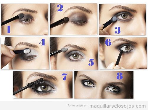 Maquillaje de ojos ahumado en tonos grises maquillarse - Como maquillarse paso a paso ...