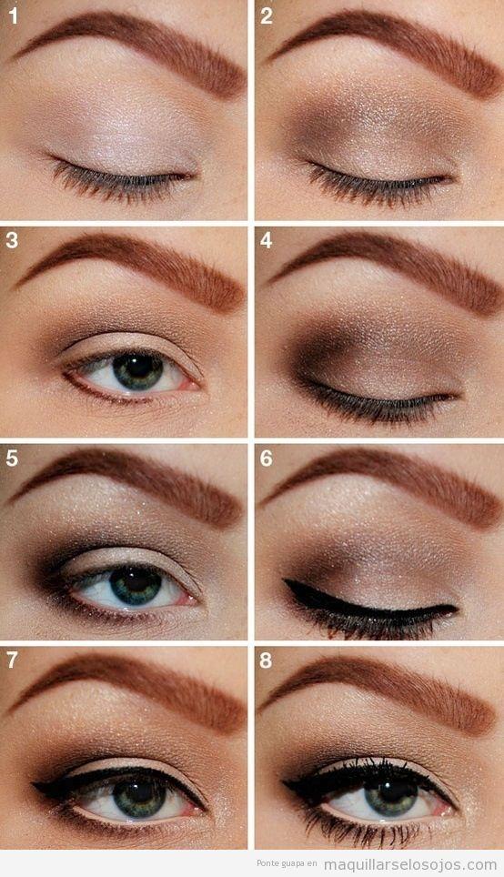 maquillaje de ojos marrn ahumado aprende paso a paso