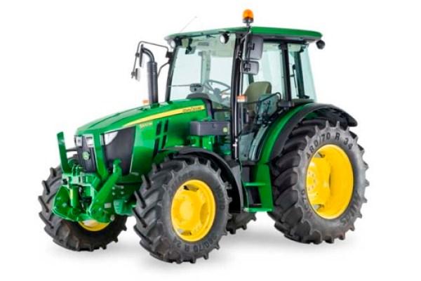 Tractor de doble tracción normal John Deere 5075m. Imagen: John Deere.