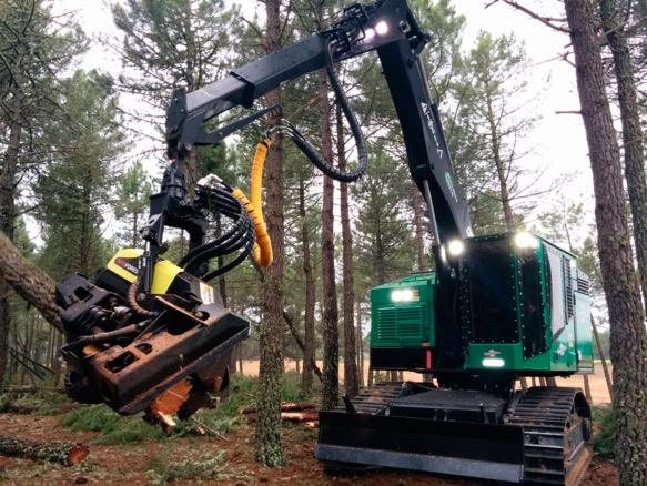 Procesadores forestales. Imagen: Forest Pioneer.