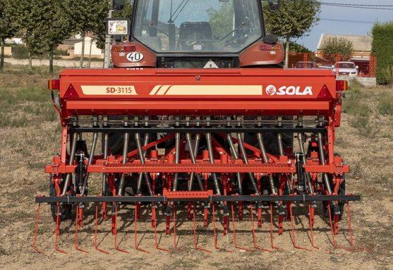 Sembradora para siembra directa Sola Sd-3115-combi. Imagen: Maquinaria Agrícola Sola.