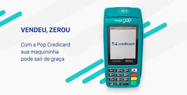 mega pop credicard maquininha