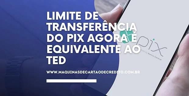 Limite de transferência do Pix