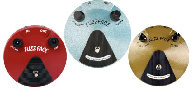 Três famosas versões do Dunlop Fuzz Face
