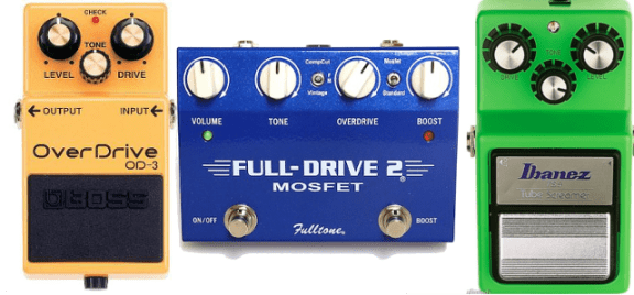 Pedais Overdrives famosos Fulldrive Boss OD3 Tube Screamer