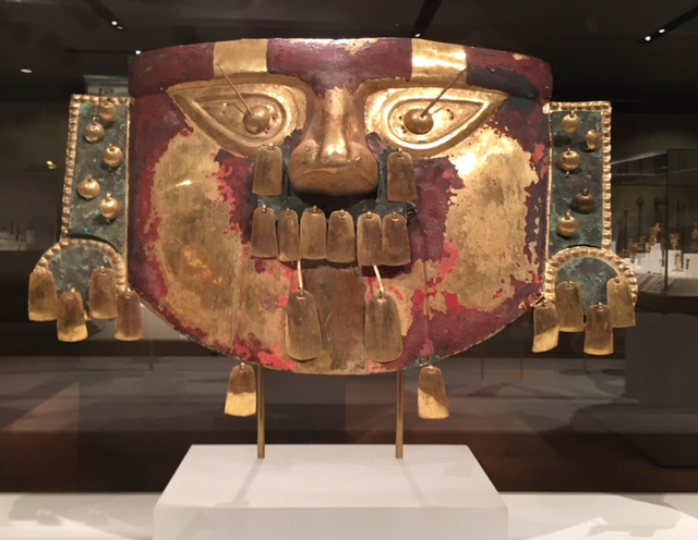 Peruvian mask Lamayeque, Sican