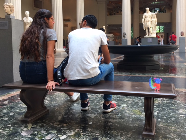 bench Met Museum Roman statuary