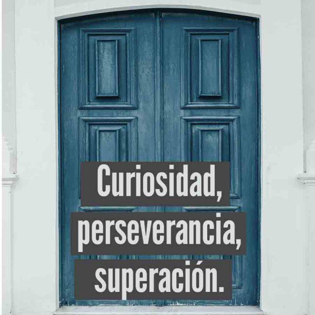 curiosidad, perseverancia y pasion