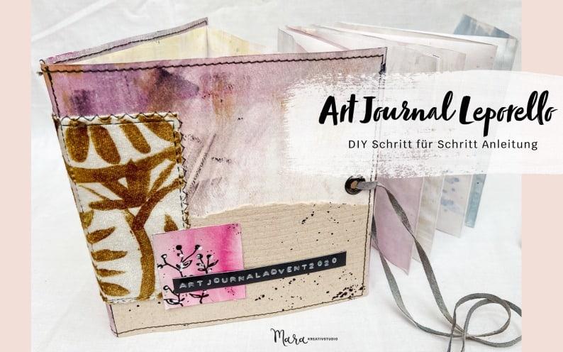 DIY: Art Journal Leporello mit Umschlag