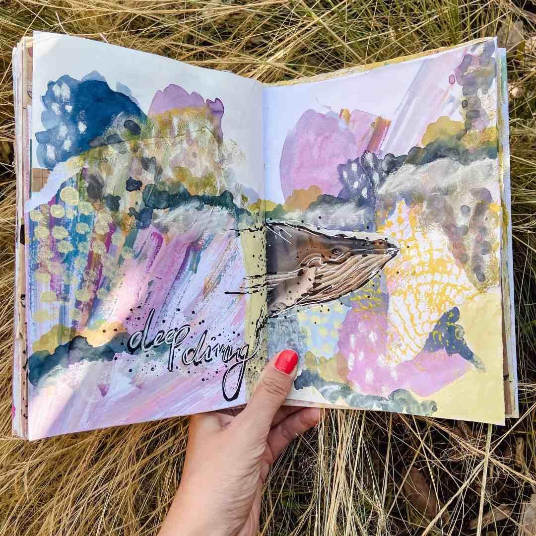 art-journaling-ideen-mixed-media
