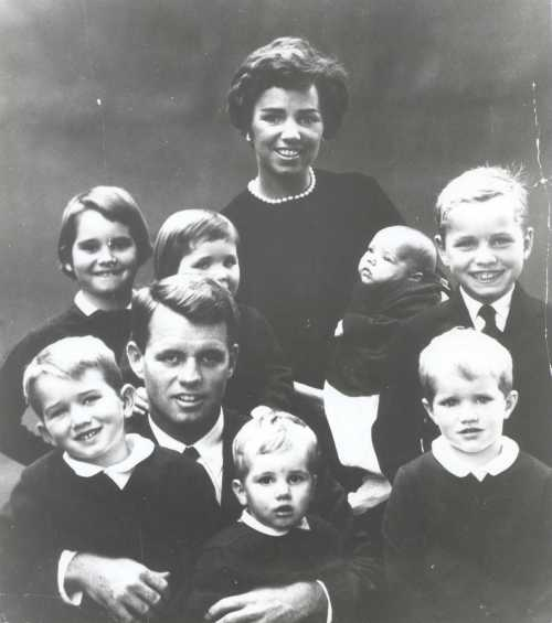 The Kennedy family, Bobby Kennedy on his father lap (left)