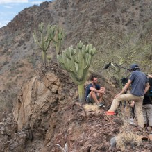 Filming on the Marañón