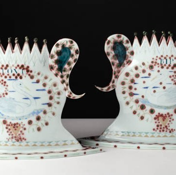 "Mara Superior, ""Pair of Love Birds Vases"", 1990"
