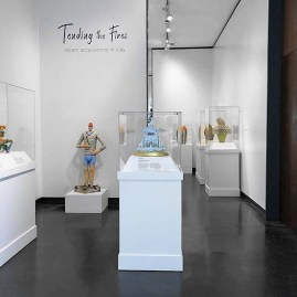 """Mara Superior in """"Tending Fires: Recent Acquisitions in Clay"""", at the Fuller Craft Museum, August 17, 2019 - May 3, 2020."""