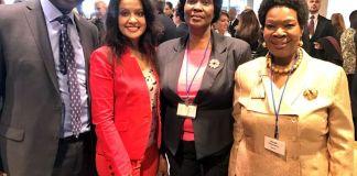 Amruta Fadnavis at Trump Event