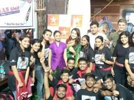 Team 'Lek Mazhi Ladki' visits GSB Ganapati Wadala
