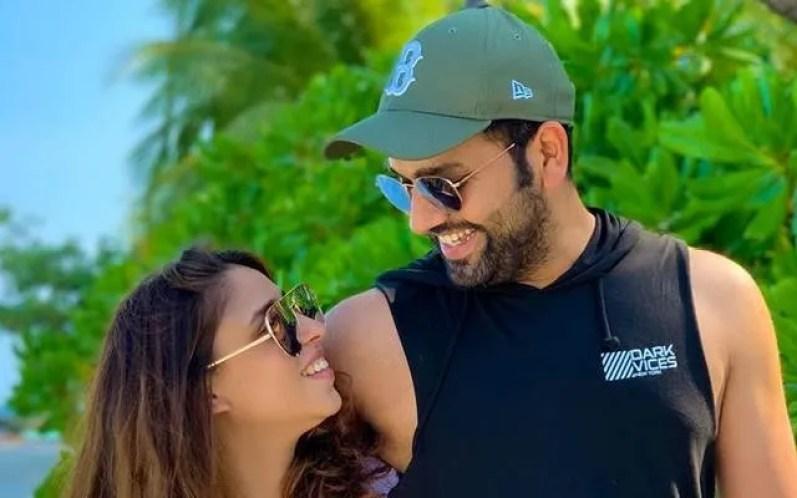 Rohit Sharma with Wife