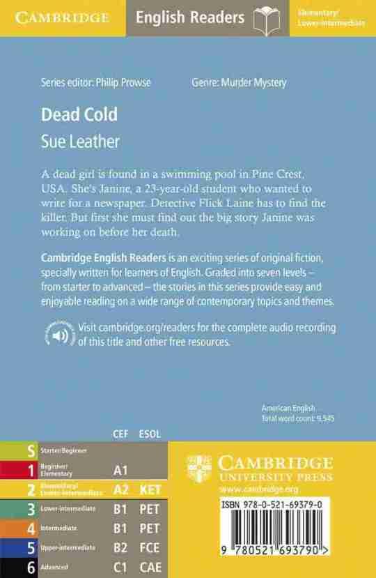 dos de livres débutants en anglais Cambridge English readers