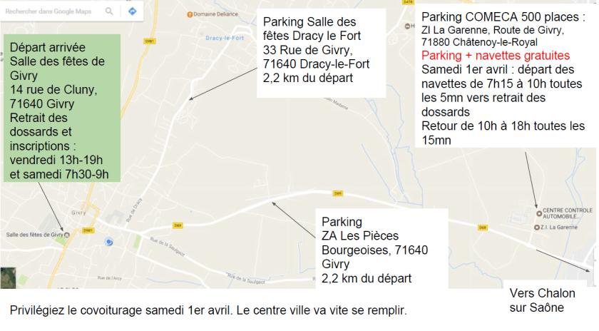 Parking Marathon des Vins de la Côte Chalonnaise