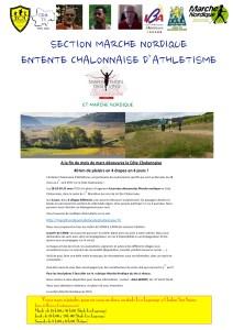 Flyer Marche Nordique Côte Chalonnaise 2017