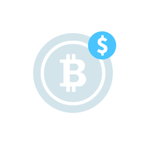 Illustration of a bitcoin with a dollar sign