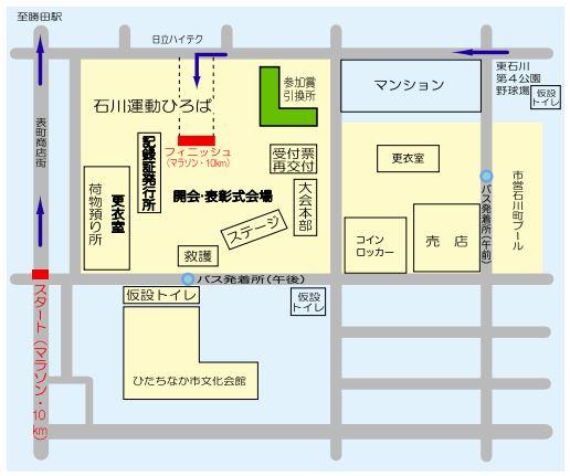 勝田マラソン 会場図