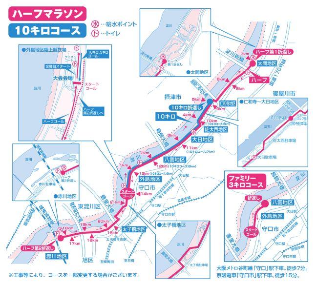 淀川国際ハーフマラソン コース
