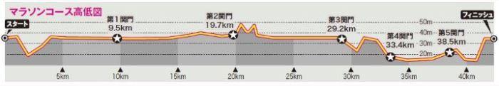 水戸黄門漫遊マラソン 高低差